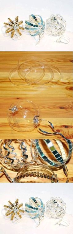 DIY Plastic Bottle Ring Ornaments