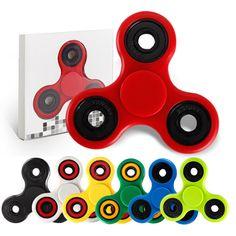 6 Estilos de Triple Spinner Spinner Fidget Mano de Rotación Para El Autismo y EL TDAH Ansiedad Estrés Alivio Enfoque Regalo Juguetes
