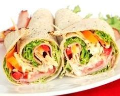 Wraps with ham and raw vegetables - cuisine - Raw Food Recipes Lunch Box Recipes, Wrap Recipes, Raw Food Recipes, Salad Recipes, Healthy Recipes, Healthy Foods, Healthy Wraps, Vegetarian Wraps, Taco Salat