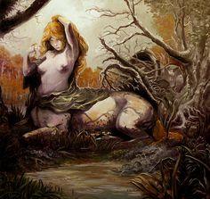 Centaur by Yogh-Art on DeviantArt Mythological Creatures, Fantasy Creatures, Mythical Creatures, Female Centaur, Animal Throws, Satyr, Art Portfolio, Dark Art, Character Art