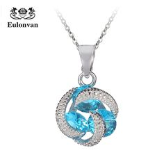 Eulonvan Choker Pendant Chain Necklace For Women 925 Sterling Silver Collier Femme Ladies Necklace Jewelry Accessories S3737 #Affiliate