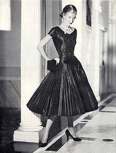 "Christian Dior, 1950s this is what a women from the 50""s would want to wear during this time but very few women could afford christian dior."