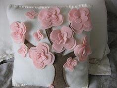 a cherry blossom pillow