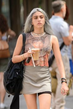 Lourdes Leon shows off table manners