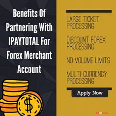 The forex business is a complex industry. Unlike any high-risk industry, merchants often have to pay large amounts of money upfront in order to make money, which isn't justified. Fortunately, forex merchants are just a few steps away from finding exceptional credit card processing solutions. With Ipaytotal's forex merchant accounts, you could have access to great benefits that will enable you to thrive sales upwards and make profits.