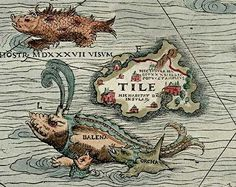 Medieval sea monsters, Iceland, Thule, whales