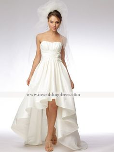 403f99197ad4c Strapless High-Low Ball Gown Wedding Dress BC360