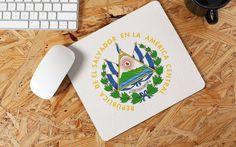 El Salvador Mouse Pad Escudo de El Salvador Personalized   Etsy Countries In Central America, Mice Control, Natural Rubber, Round Corner, Color Of Life, Simple Designs, Real Life, Etsy, Fabric