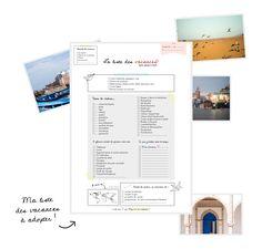 La liste pour préparer ses vacances à imprimer