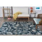 Majesty Navy (Blue) 7 ft. 6 in. x 9 ft. 10 in. Transitional Area Rug