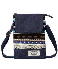 Buy Cell Phone Purse Wallet Canvas National Style Women Small Crossbody Purse Bags - Blue - and More Fashion Bags at Affordable Prices. Small Crossbody Purse, Purse Wallet, Crossbody Bags, Purple Bags, Blue Bags, Cell Phone Purse, Green Bag, Purses And Bags, Women's Bags