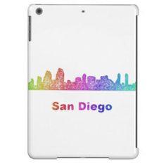 Rainbow San Diego skyline Case For iPad Air $77.30