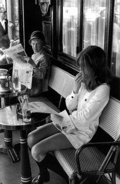 Brasserie Lipp, Saint Germain des Prés, Paris 1969