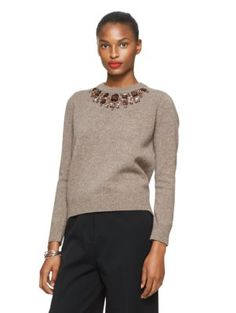 embellished sweater - kate spade new york