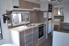 The Blue Sky Emerald also offers a generous amount of bench and kitchen space coupled with the 2 door fridge freezer