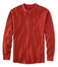3861f3f5ef45 LL Bean RIVER Driver SHIRT Medium RED Regular MENS Size HENLEY Two LAYER  Cotton   LLBean  Henley