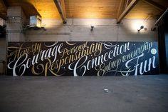 Lululemon Type Mural by Ben Johnston