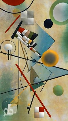 "Wassily Kandinsky Animation ""Everything starts from a dot."" For the the most elementary of had Wassily Kandinsky Animation Kandinsky For Kids, Kandinsky Art, Kandinsky Prints, Wassily Kandinsky Paintings, Abstract Landscape Painting, Abstract Painters, Abstract Art, Art Lessons For Kids, Art For Kids"
