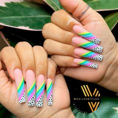 Rainbow French Coffin Nails ❤ 35+ Magnificent Coffin Nails Designs You Must Try ❤ See more ideas on our blog!! #naildesignsjournal #nails #nailart #naildesigns #nailshapes #coffinnails #balerinanails #coffinnailshapes Acrylic Nail Designs, Nail Art Designs, Acrylic Nails, Nails Design, Polygel Nails, Hair And Nails, Holiday Nails, Christmas Nails, Glamour Nails
