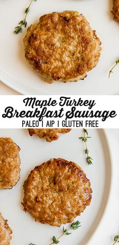 Turkey Maple Breakfast Sausages (Paleo, AIP) – Unbound Wellness These turkey maple breakfast sausages are a delicious homemade breakfast option! They're made with all real food ingredients and are paleo and AIP compliant. Turkey Breakfast Sausage, Homemade Breakfast Sausage, Chicken Breakfast, Breakfast Sausages, Paleo Breakfast, Breakfast Options, Breakfast Sausage Seasoning, How To Make Breakfast, Sausage Egg Muffins