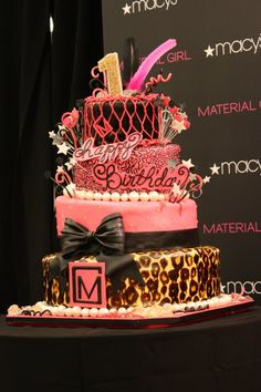 Material Girls 1st Birthday Event at Macy's Herald Square. The design is based from a contest entry to design the birthday cake.