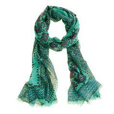 j.crew vibrant paisley scarf