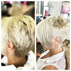 Before and after....a power ash blond!!