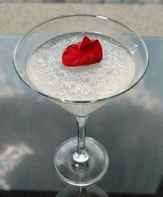 Eternal Rose Martini  - 2 ounces Belvedere Orange vodka  1 ounce rose water simple syrup  3/4 ounce lemon juice  1/4 ounce peach liqueur