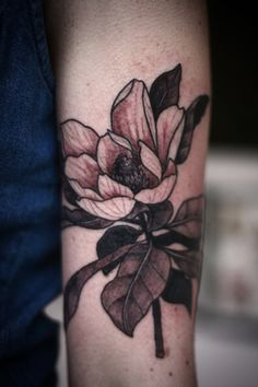 magnolia by alice carrier #arm #tattoos