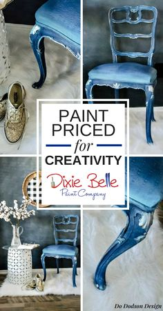 Paint priced for creativity! Shop 60 colors of Dixie Belle Paint for your painted furniture projects.   #dixiebellepaint #bestpaintonplanetearth #chalklife #homedecor #doityourself #diy #chalkmineralpaint #chalkpainted #easypeasypaint #makingoldnew #whybuynew #justpainting #paintedfurniture