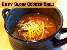 Slow Cooker Chili Recipe - perfect for a cold day or evening