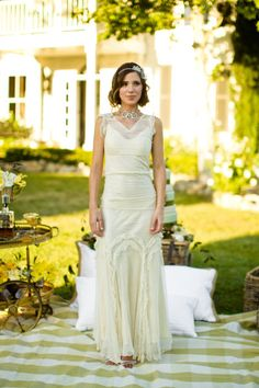 Gatsby inspired bride I know it won't be this @becca But it reminded me of you