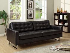 Tips That Help You Get The Best Leather Sofa Deal. Leather sofas and leather couch sets are available in a diversity of colors and styles. A leather couch is the ideal way to improve a space's design and th Black Leather Sofas, Best Leather Sofa, Black Sofa, Chesterfield Sofa, Sofa Design, Sophisticated Living Rooms, Colorful Couch, Sofa Layout, Vintage Furniture Design