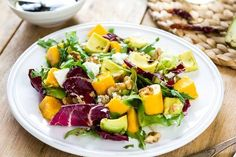 Do you crave a different salad? Mix avocado, walnuts, mango, fresh #cheese, and some balsamic vinegar.