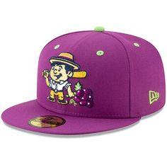 Tri-City Vineros New Era Copa de la Diversion Fitted Hat - Purple Caps Game, Hat Patches, New Era Fitted, Team Cap, New Era 59fifty, Tri Cities, New Era Cap, Unique Logo, Fun Cup