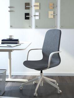 LÅNGFJÄLL bureaustoel   IKEA IKEAnl IKEAnederland stoel werkplek studeerkamer werken studeren bureau werk grijs wit ergonomisch kantoor interieur inspiratie