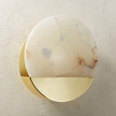 Gio Round Alabaster Sconce |