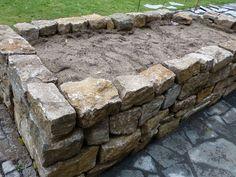 natursteinmauer aus muschelkalk garden pinterest. Black Bedroom Furniture Sets. Home Design Ideas