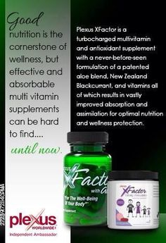 Plexus X-Factor Multi-Vitamin with aloe for great absorption.  In capsule or chewable tablet - great for the whole family ;~}