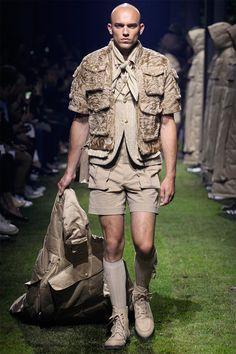 Moncler Gamme Bleu ss17 ... love the glam boy scout theme