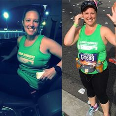 THINK BLUE: #FBF to last year's LA Marathon.  The picture on the left was at like 4am on race day.  My friend had dropped me off and wanted a before picture.  All I remember is the nerves at a maximum level and hoping I didn't puke in her car (I didn't) . The picture on the right was taken around mile 16 I think- and it's proof that even though I sometimes look like I'm dying while running- I love it.  I loved pretty much every minute of my first marathon and although the nerves are starting…