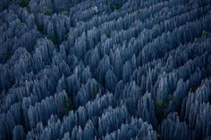 Madagascars Fascinating Stone Forest - Found in Bemahara National Park in western Madagascar, the expansive stone forest was classified as a UNESCO World Heritage Site in 1990 and is known by locals as 'Tsingy,' which means to walk on tiptoe.