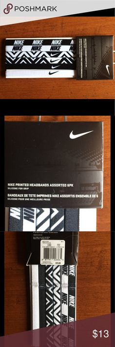 LISTING Nike Headbands 6 pack NWT Brand new 6 pack of Nike headbands. Nike Accessories Hair Accessories