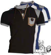 MG Sport Squadra Look T-Shirt - Cerniera Scollo V Camicia Slim Polo-neu S-xxl