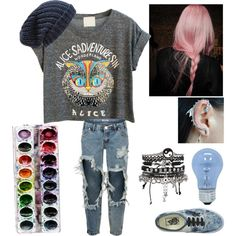 Art class by fandombreather on Polyvore featuring мода, WithChic, One…