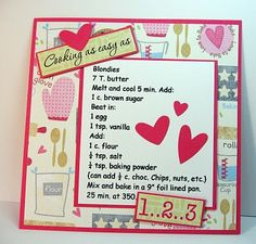 stamping up north: recipe page desserts