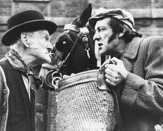 Steptoe and Son - ripped off in America as Sandford and Son. British Sitcoms, British Comedy, Comedy Tv, Comedy Show, Steptoe And Son, Classic Comedies, Social Art, Old Shows, Great Tv Shows