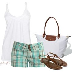 Plaid Shorts, created by styleofe on Polyvore