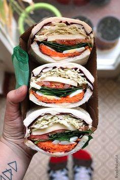 Mega vegetarian sandwich - crunchy veggie sandwiches with cheese Mega Sandwich, Veggie Sandwich, Vegetarian Sandwiches, Vegetarian Recipes, Delicious Recipes, Easy Recipes, Wrap Recipes, Light Sandwiches, Appetizer Sandwiches