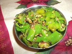 I love spicy food and this dish is my favorite. My mom used to make all kinds of green chilies to go with diner, she stuffed them , fry the. Spicy Recipes, Vegetarian Recipes, No Cook Meals, I Foods, Pickles, Fries, Favorite Recipes, Dishes, Green Chilis